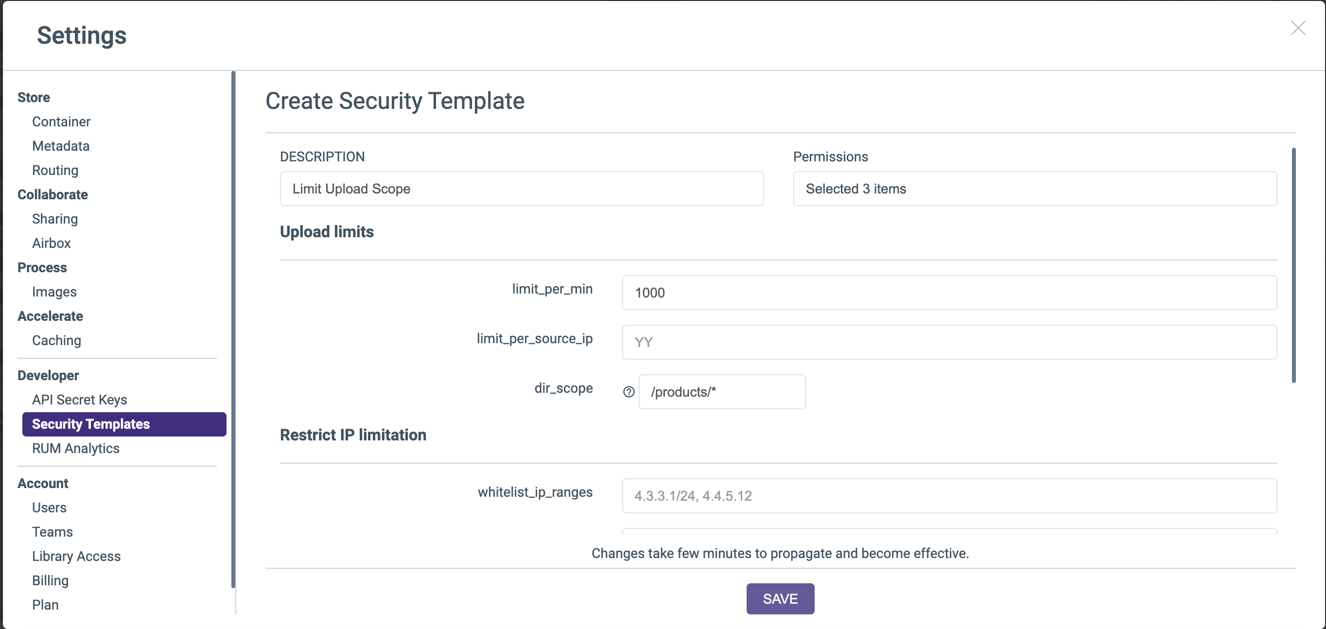 Create security template \#responsive